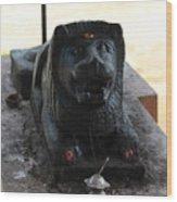 Durga's Lion, Valparai Wood Print