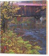 Durgin Covered Bridge Sandwich Wood Print