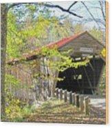 Durgin Covered Bridge Wood Print