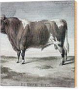 Durham Bull, 1856 Wood Print