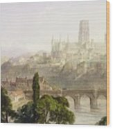 Durham Cathedral Wood Print by George Arthur Fripp