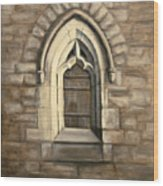 Durham Window Wood Print