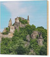 Durnstein Castle And Stone Outcroppings Wood Print