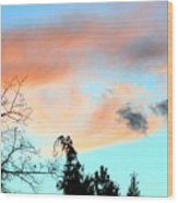 Dusk And Dogs Wood Print
