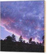 Dusk At Glen Haven Co Wood Print