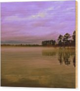 Dusk At Lake Murray Sc Wood Print