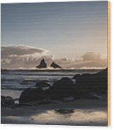 Dusk At Lone Ranch Beach Wood Print