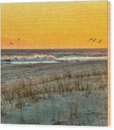Dusk At The Shore Wood Print