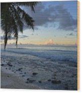 Dusk Beach Wood Print