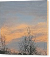 Dusk From The Deck Wood Print