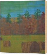 Dusk In The County Wood Print