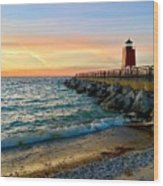 Dusk In Charlevoix Wood Print