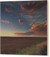 Dusk In The Heartland Wood Print