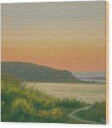 Dusk Lamberts Cove Wood Print