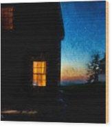 Dusk, Monhegan Island, Maine Wood Print