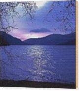 Dusk On Loch Lomond Wood Print