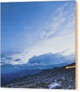 Dusk On Mount Evans Wood Print