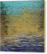 Dusk On Robert's Bayou Wood Print