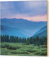 Dusk Over Guanella Pass Wood Print