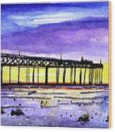 Dusk Pier Wood Print