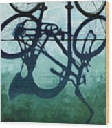 Dusk Shadows - Bicycle Art Wood Print
