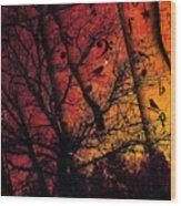 Dusk Song Wood Print