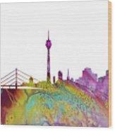 Dusseldorf Skyline 3 Wood Print