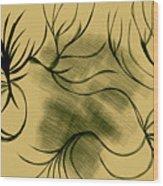 Dust And Vine Wood Print
