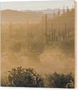 Dust Storm In The Desert Wood Print