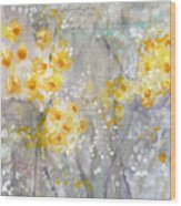 Dusty Miller- Abstract Floral Painting Wood Print