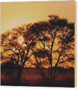 Dusty Sunrise Wood Print