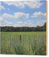 Dutch Blue Wood Print