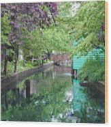 Dutch Canal Wood Print