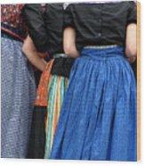 Dutch Dancers In A Huddle Wood Print