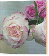 Dutch Frilled Roses Wood Print