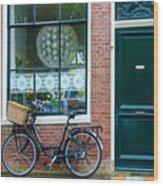 Dutch House Facade Wood Print