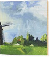 Dutch Landscape Wood Print