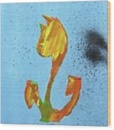 Dutch Pride Yellow And Orange Wood Print