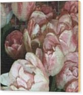 Dutch Tulips Dutch Tile Wood Print