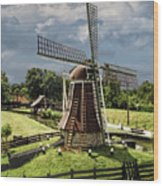 Dutch Windmill Near The Zuider Zee Wood Print