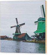 Dutch Windmills 1 Wood Print