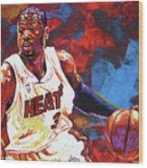 Dwyane Wade 2 Wood Print