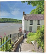 Dylan Thomas Boathouse 4 Wood Print