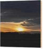 Dynamic Sunset Over Field Wood Print