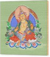 Dzambala The Buddha Of Wealth Wood Print