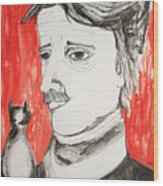 E. A. Poe Wood Print