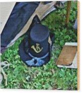 E Company Black Hat Wood Print