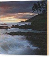 E Hamau O Makani Mai Auanei Aloha Paako Wood Print