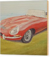 E-type Jaguar Wood Print