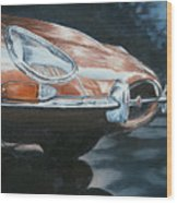 E-type Jaguar Wood Print
